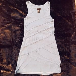 Tiered fabric tank dress